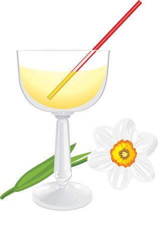 jonquil: Daffodil and wine glass