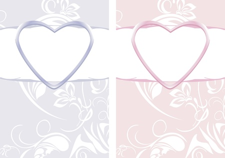 Ornamental backgrounds for decor to the Valentines day Vector