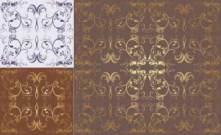 Three patterns of ornamental backgrounds Vector