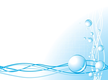 Bubbles on the abstract background Vector