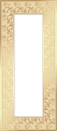 golden border: Shining golden frame