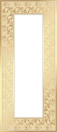 Shining golden frame Vector