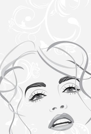 Fashion hairstyle. Banner Vector