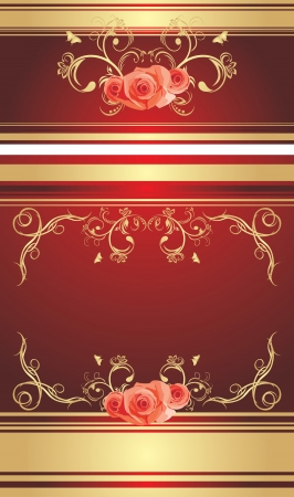 Decorative retro background with roses Vector