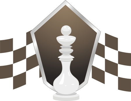 White king. Chess icon Vector