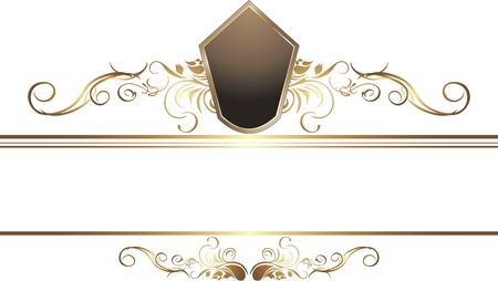 golden border: Dark golden vintage element for border Illustration