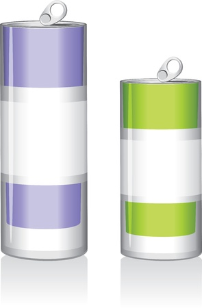 Two drink cans Vector