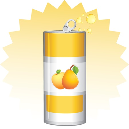 Aluminum can with fruit juice Stock Vector - 14272782