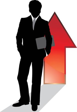 Silhouette of a successful businessman Stock Vector - 14296980