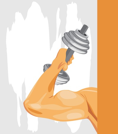 elbow: Bodybuilding. Sport background