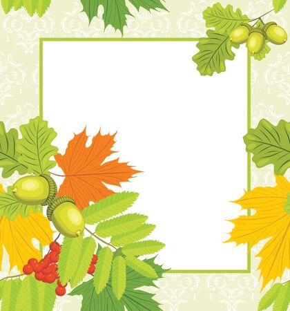 Decorative autumn frame Stock Vector - 14724777