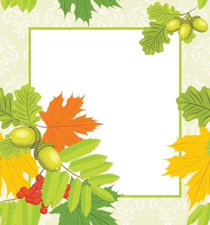 Decorative autumn frame Stock Vector - 14724777