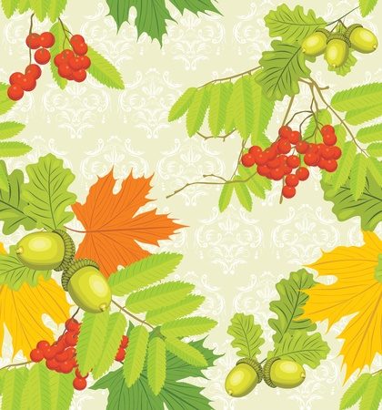 Decorative autumn background Vector