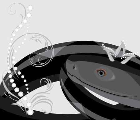 Black snake with diamond crown Stock Vector - 14984765
