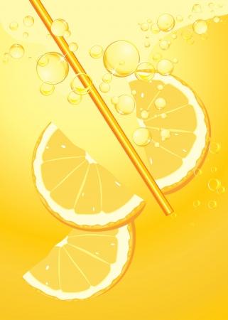 soda splash: Orange slices in lemonade splash
