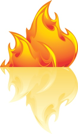 Abstract flame isolated on the white Stock Vector - 15486901