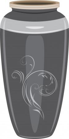 pitcher: Grey ceramic vase