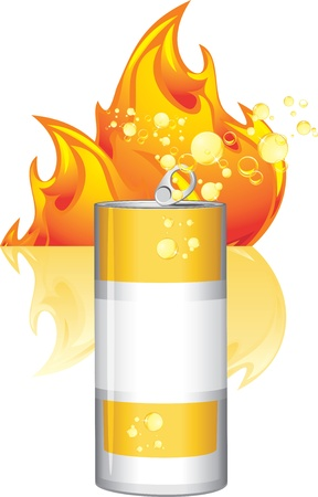 Burn energy drink Stock Vector - 15486902