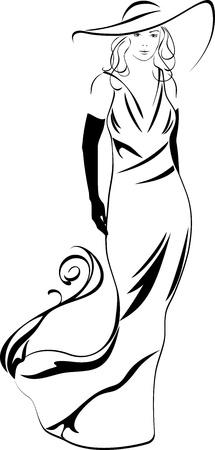 Silueta de una mujer elegante