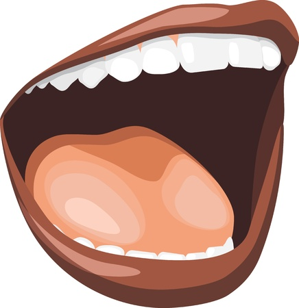 mouth cavity: Open mouth