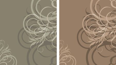 antiquarian: Two ornamental stylish backgrounds