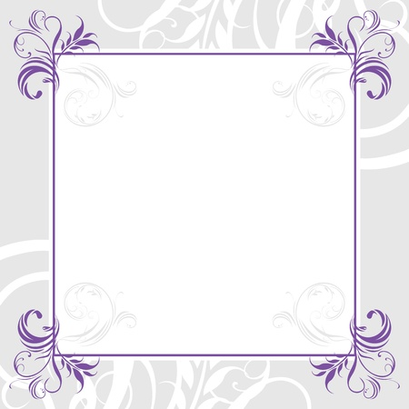 Ornamental lilac frame