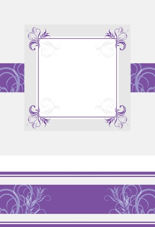 Ornamental violet frame and border Vector
