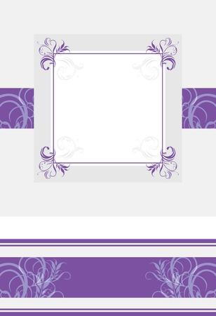 lilac background: Ornamental violet frame and border