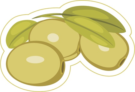 Olives. Label isolated on the white Stock Vector - 15810092