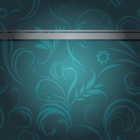 sea green: Dark sea green ornamental background Illustration