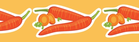 Decorative border with carrots Vector