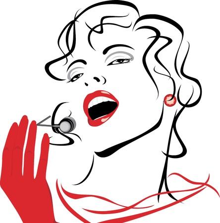 s�ngerin: Portr�t einer sch�nen Gesang Frau