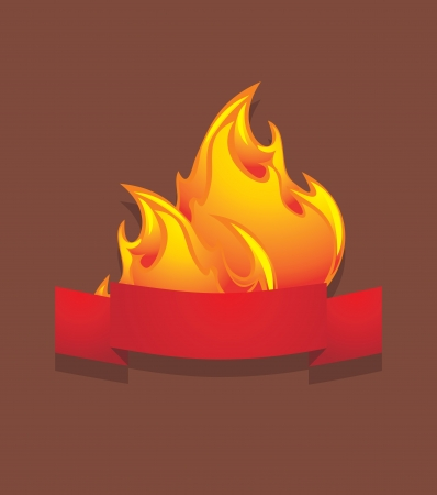 Fiery abstract icon Vector