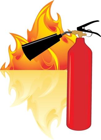 explosion hazard: Flame and extinguisher