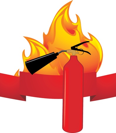 Flame and extinguisher  Icon Stock Vector - 16831535