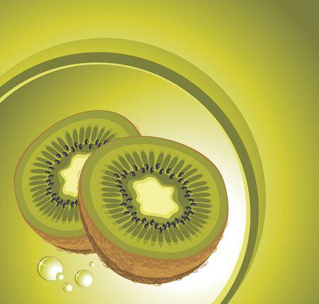 Ripe kiwi fruit Stock Vector - 16877094