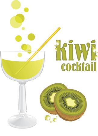 Kiwi cocktail Stock Vector - 16877097