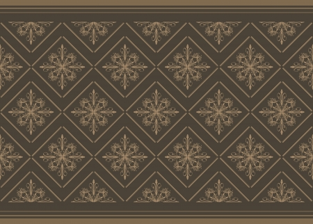 Dark brown ornamental background Vector