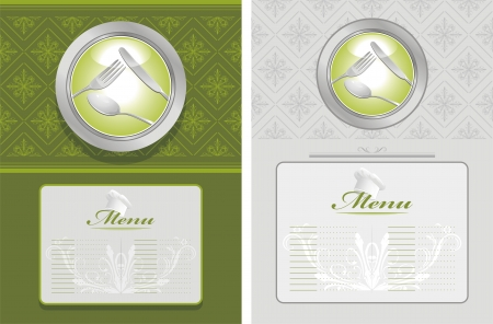 Two menu backgrounds Vector