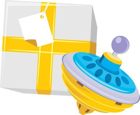 molinete: Caja de regalo con la perinola