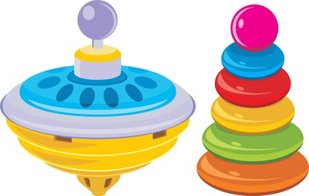 whirligig: Children pyramid and whirligig toy