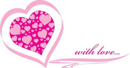 Invitation pink heart Stock Vector - 17441711