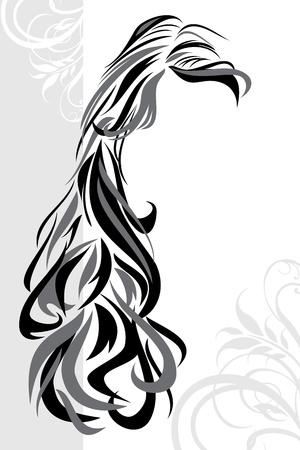 Abstract hairstyle background Vector