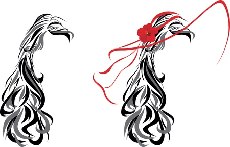 Elegant female hairstyle Vector