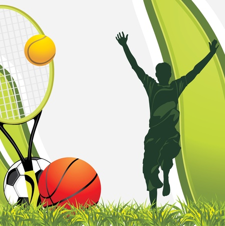 Sporting balls. Recreation background Vector
