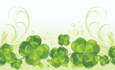 patrick banner: Clover leaves  Decorative seamless background