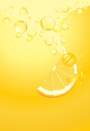 yellow background: Effervescent pills with vitamin C