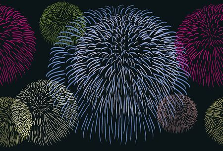 Abstract seamless background with a fireworks Stock Vector - 19197088