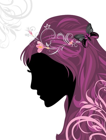 Female hairstyle  Decorative banner for design Stock Vector - 19317220