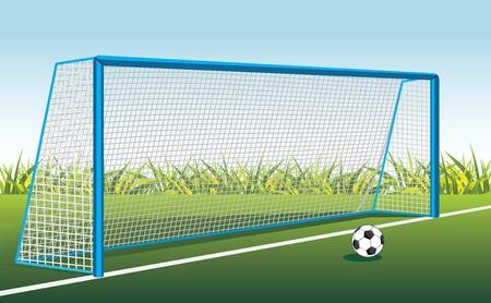 football net: Soccer ball and gate
